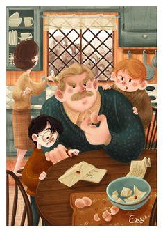 """Popatrz na ten projekt w @Behance: """"Harry Potter (2018)"""" https://www.behance.net/gallery/65500895/Harry-Potter-(2018)"""