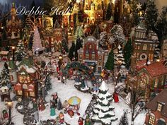 """A section of my own (Debbie Holt) Department 56 """"Christmas in the City"""" village display"""