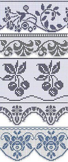 Easiest Crochet Frills Border Ever! Filet Crochet Charts, Crochet Borders, Crochet Stitches, Crochet Patterns, Crochet Curtains, Crochet Doilies, Crochet Lace, Easy Crochet, Funny Cross Stitch Patterns