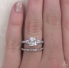 She definitely said yes to this A.JAFFE Engagement Ring.