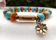 Hey, I found this really awesome Etsy listing at https://www.etsy.com/listing/201266153/yoga-bracelet-namaste-bracelet-lotus