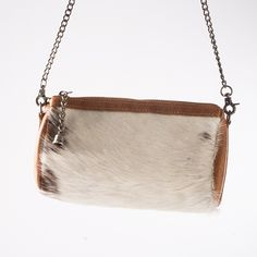 White Cowhide & Leather Clutch - Handbags & Scarves - National Cowboy Museum