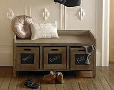 shabby chic bench and shoe storage - Google Search