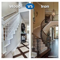 fun wrought iron staircase. Which type of staircase would you prefer  Wood or Wrought Iron Entryway Makeover Reveal How To Work With What You Have Stair