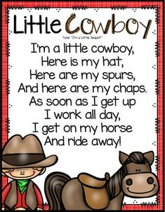 Cowboys: Preschool, Pre-K and Kindergarten. by Mrs Jones' Creation Station Rodeo Crafts, Cowboy Crafts, Western Crafts, Circle Time Songs, Circle Time Activities, Songs For Toddlers, Kids Songs, Preschool Songs, Preschool Themes