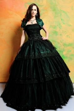 Emerald green ballgown