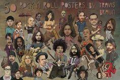 50 Rock N Roll Posters On Kickstarter  - By Travis Braun http://www.kickstarter.com/projects/travisbraun/50-rock-n-roll-posters-phase-1-0