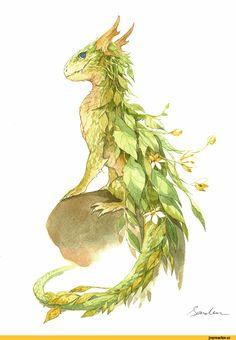 красивые картинки,art,арт,Fantasy,Fantasy art,Traditional art,Dragon,Sandara,artist