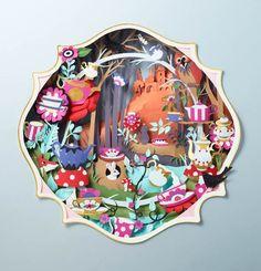 Les magnifiques créations en papier de l'artiste britannique Helen Musselwhite, basée à Manchester. Des créations précises, subtiles et colorées en papi