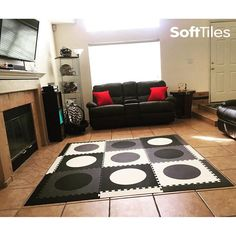 SoftTiles Circles Play Mat- a play mat that looks great in any room!