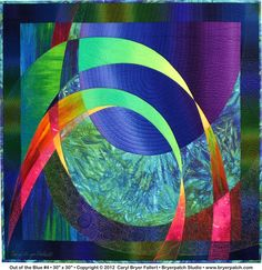 Out of the Blue #4: Copyright 2012 © Art Quilt by Caryl Bryer Fallert, Bryerpatch Studios, Paducah KY & PortTownsend WA