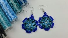 free seed bead patterns and instructions Free Beading Tutorials, Beading Patterns Free, Seed Bead Patterns, Beaded Bracelet Patterns, Weaving Patterns, Seed Bead Bracelets, Seed Bead Earrings, Flower Earrings, Seed Beads