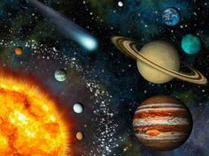 Realistic Solar System Wallpaper Wall Decal - Candi Larson - Space Everything Teal Baby Rooms, Baby Boy Room Decor, Sistema Solar, Solar System Wallpaper, Space Solar System, Kids Wall Murals, Earth And Space Science, Nursery Paintings, Solar Installation