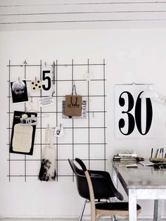 working space in black&white styling Hans Blomquist