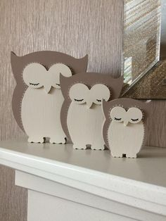 Products similar to the MDF owl family on Etsy – Woodworking 2020