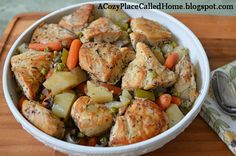 A Cozy Place Called Home: Easiest Chicken & Vegetable Dinner Ever (Oven or Crock Pot Meal)
