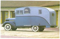 1936 Pontiac Silver streak camper.  I pinned as is cannot attest to exact date of this vehicle!  LOL