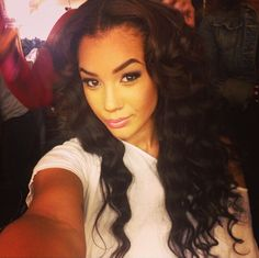 Gorgeous Curly Hair Middle Parting Stunning Nose Ring Mixed Chicks Buff Lightie