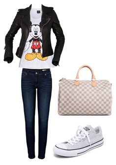 """Untitled #86"" by amna-hakeem on Polyvore featuring Disney, Anine Bing, Converse, Balenciaga and Louis Vuitton"