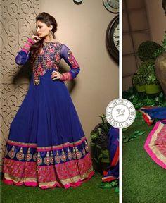 Buy Beauteous Navy Blue Designer Salwar Kameez [APRG2268] at $81.88