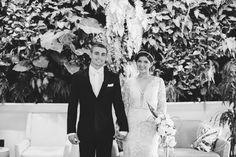 Bride and Groom, Black and White Wedding Photo  JN Event Design | www.jneventdesign.com