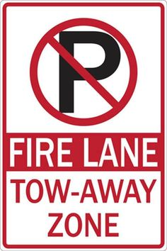 Eco Parking Sign, No Parking Symbol, Fire Lane, 12Wx18H, Engineer Grade Prismatic, Recycled Aluminum