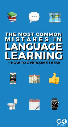 Learning a language? You'll probably make some mistakes - but that's okay! Here are the most common mistakes language learners make, and how to overcome them. Best Language Learning Apps, Learning Languages Tips, French Language Learning, Language Lessons, Learn A New Language, Learning Tools, Learning Spanish, Learning Resources, Second Language