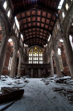Taken from the City Methodist Church in Gary, Indiana  View more on my website…