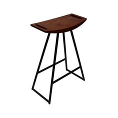 Tronk Design Robert Bar Stool ($442) ❤ liked on Polyvore featuring home, furniture, stools, barstools, marquetry furniture, handcrafted furniture, colored stools, colored furniture and colored bar stools