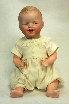 Antique German Unusual Heubach Character Doll  c1910