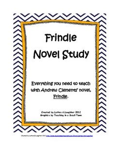 40+ pages of printable resources to teach with Frindle by Andrew Clements.