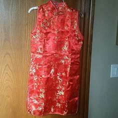 VIETNAMESE TRADITIONAL DRESS BRAND NEW BUT NO TAG, NEVER WORE! VIETNAMESE TRADITIONAL DRESS IN EXCELLENT CONDITION!  COLOR RED. SIZE LARGE.  VERY CUTE AND AWESOME OUTFIT TO WEAR! Dresses Casual