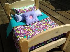BELLA  7-Piece Doll Bedding Set for 14- to 18-Inch Dolls via Etsy
