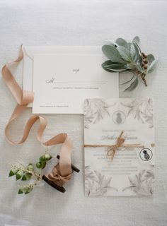 Derona + Anthony's wedding invitations by Strawberry Sorbet, photographed by Almond Leaf Studios