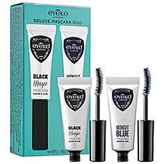 """Eyeko Deluxe Mascara Duo in Black Magic/ Midnight Blue #sephora   This is a new one for me. Doesn't clump or smudge. Perfect size for travel. Blue dries a nice dark color and goes great with brown or purple eye shadows. The applicator separates and lengthens. Been using for about 2 months and hasn't """"gunked"""" up in the tube."""