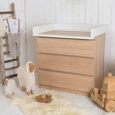 naturholz wickeltischaufsatz f r ikea malm mandal brusali kommode babyzimmer pinterest. Black Bedroom Furniture Sets. Home Design Ideas