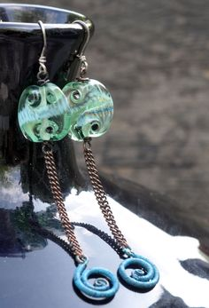 Seahorse Tales from Rustic Wrappings by Kerry Bogert, beads by Ali VanderGrift