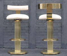 Sexy gold bar stools
