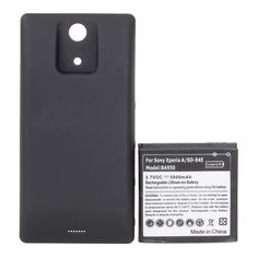 5000mAh Extended Battery With Back Case For Sony BA950 Xperia A SO-04E