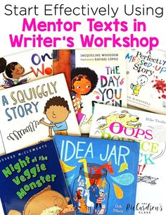 Learn how to start using mentor texts in writer's workshop to help boost your kindergarten, first grade, and second grade students. This guide with tips and book suggestions will help you make the most out of your writing time! #WritersWorkshop #FirstGrade #Kindergarten #SecondGrade