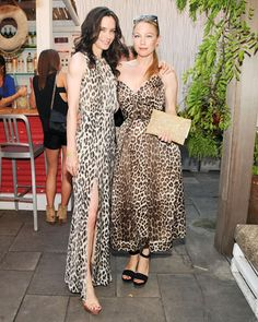 Downtown to Down Under: Australian Fashion Foundation's 5th Annual Summer Party - Kiane von Mueffling and Sarah Wynter in Zimmermann