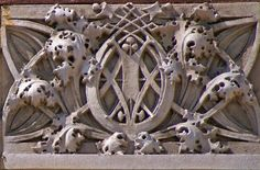 Ornamental frieze from the Van Allen building in Clinton, Iowa.