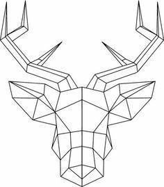 Règle dessin forme géométrique image de dessin joli cerf