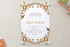 folksy floral Baby Shower Invitations by Oscar & Emma at minted.com
