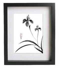 Japanese iris ink drawing - Yahoo Image Search Results