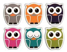 Kikkerland Vinyl Owl Magnet Set Of 6: Amazon.co.uk: Kitchen & Home
