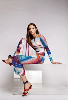 Missoni 2016 - this collection was inspired by the great Sonia Delauney - very exciting to see how great artists and designers can influence each other.