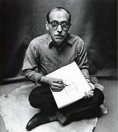 Irving Penn Cartoonist Saul Steinberg, New York City 1947 Saul Steinberg, Saul Leiter, The New Yorker, Irving Penn Portrait, Gelatin Silver Print, Famous Photographers, Gravure, Black And White Photography, Portrait Photography