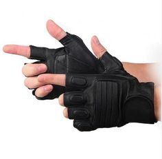 New Style Mens Leather Driving Motorcycle Guantes Luva GS-AGL007 Fitness Half Finger Tactical Gloves