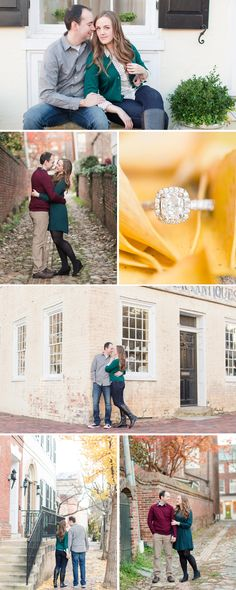 A Classic Fall Engagement Session In Old Town Alexandria | Virginia Wedding Photographer | Katelyn James Photography